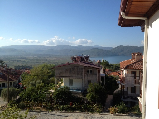 A view of the Aegean from our friend's apartment in Akyaka.